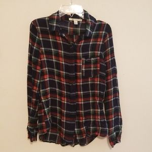 Plaid women's blouse